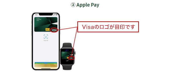 VISAカード Apple Pay